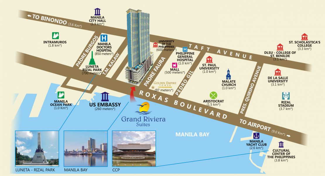 Vicinity Map Grand Riviera Suites