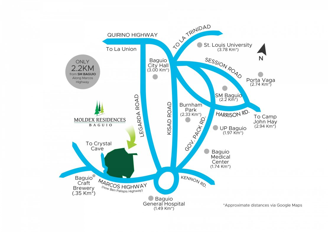 Vicinity Map Moldex Residences Baguio