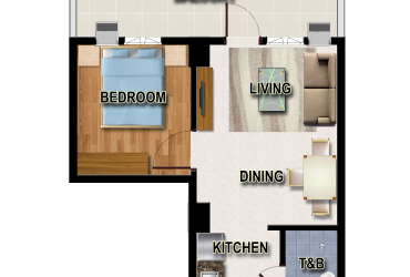 View One Bedroom Unit A floor plan