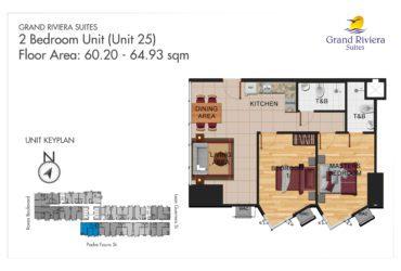 View 2 Bedroom floor plan