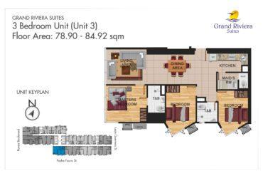 View 3 Bedroom floor plan