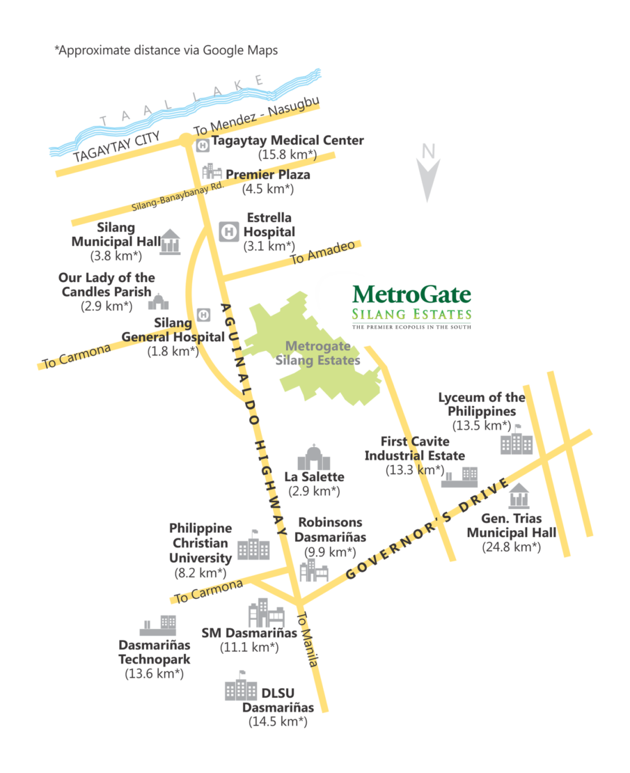 Vicinity Map MetroGate Silang Estates