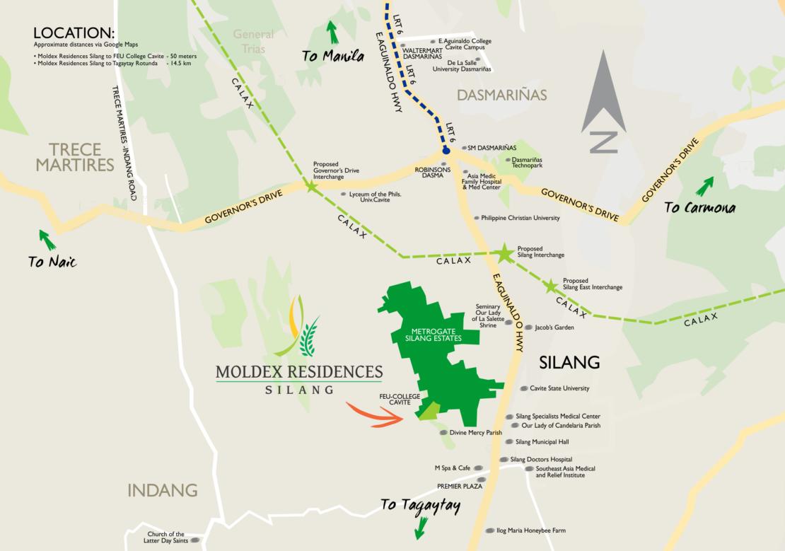 Vicinity Map Moldex Residences Silang