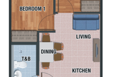 View 2 Bedroom floor plan