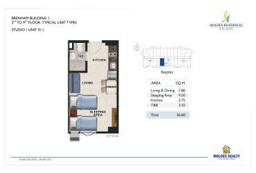 View Studio Unit floor plan