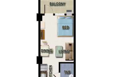 View Studio Unit - Type A floor plan