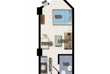 View Studio Unit - Type B floor plan