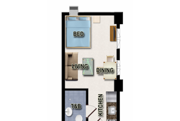 View Studio Unit - Type C floor plan