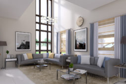 Architect's Perspective of Living Area