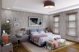 Architect's Perspective of Masters Bedroom