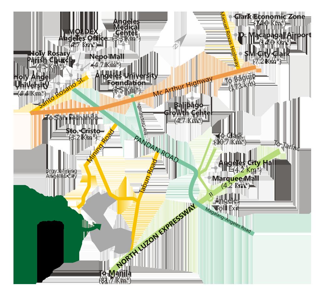 Vicinity Map MetroGate Angeles