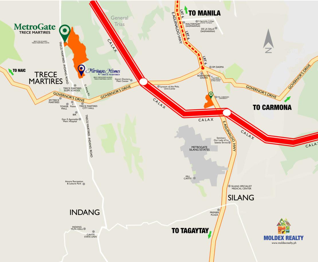 Vicinity Map MetroGate Trece Martires