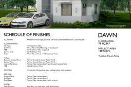 Dawn Model House Specs