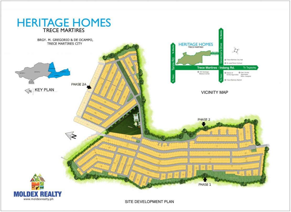 Site Development Plan for Heritage Homes Trece Martires