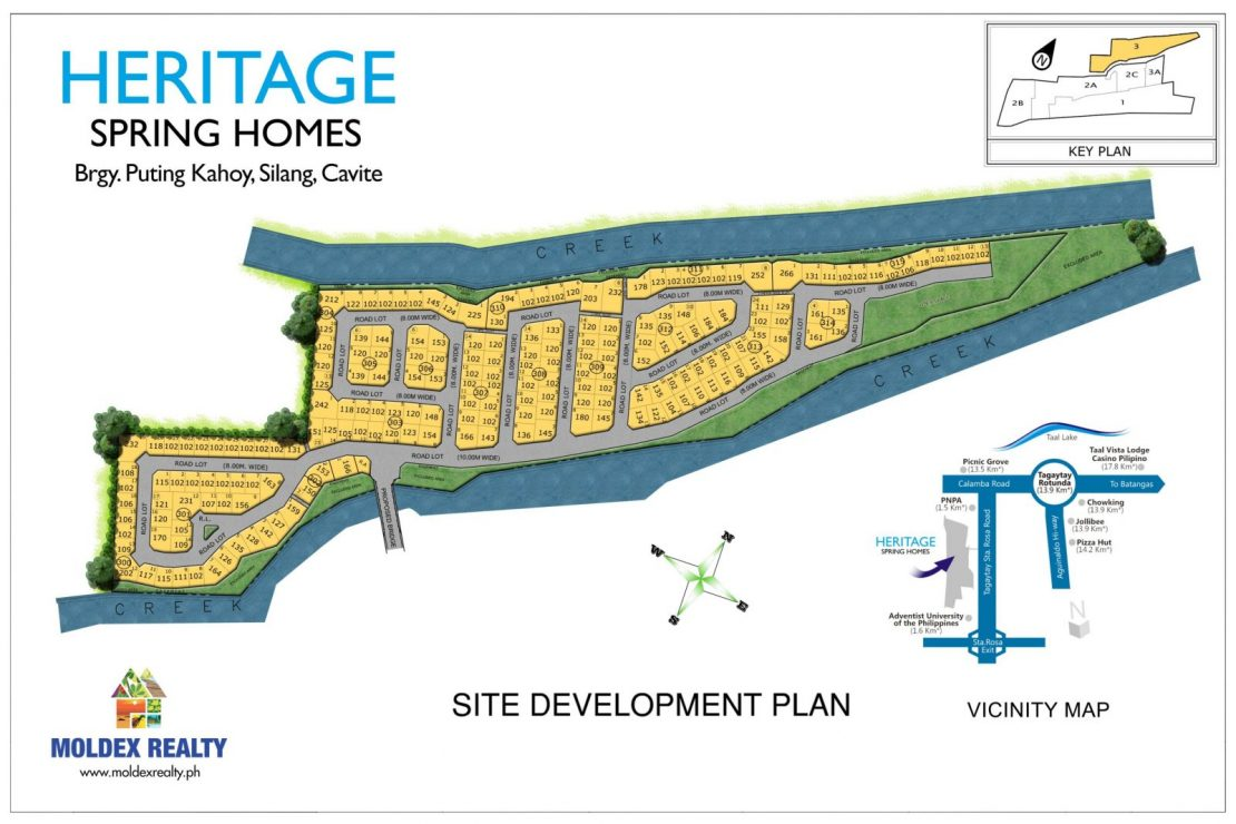 Site Development Plan for Heritage Spring Homes