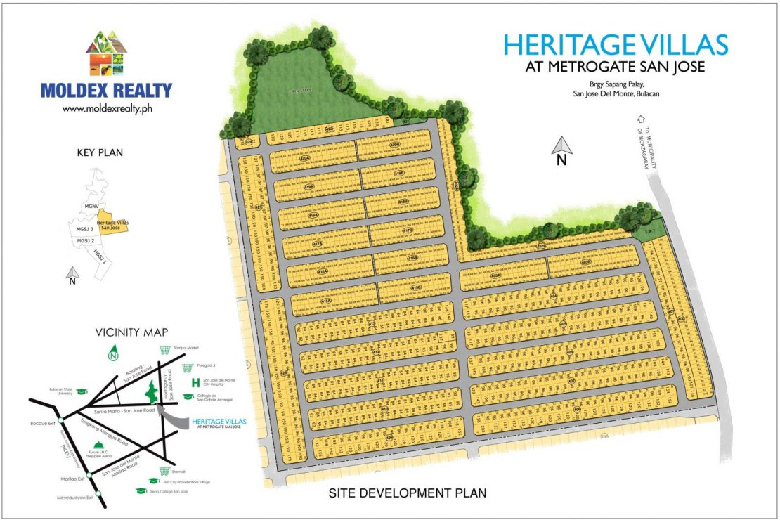 Site Development Plan for Heritage Villas at Metrogate San Jose