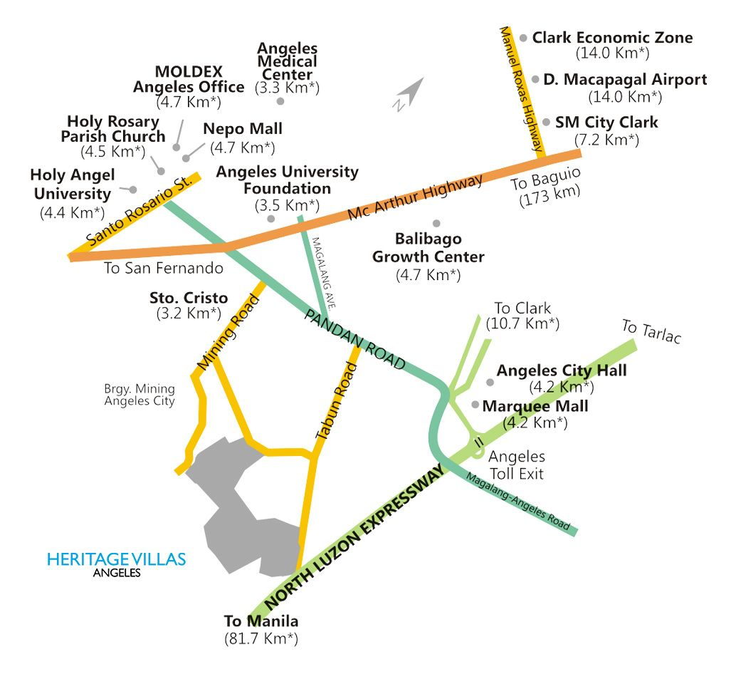 Vicinity Map Heritage Villas Angeles