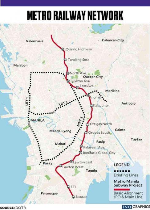 Ams Subway Map.Metro Manila Subway Project Finally Gets Underway Moldex Realty