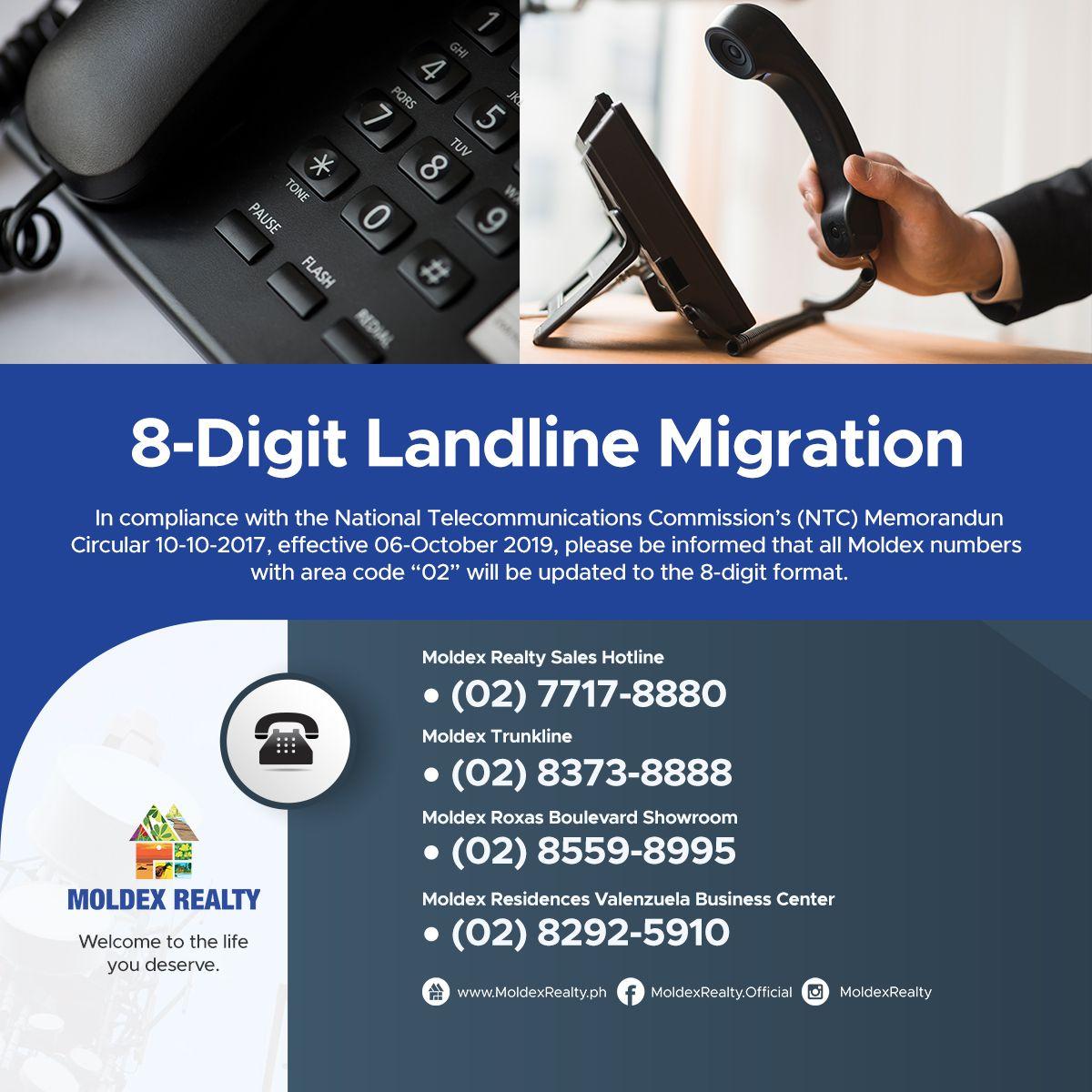 8-Digit Landline Migration