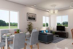 Avery | Architect's Perspective of Living Area