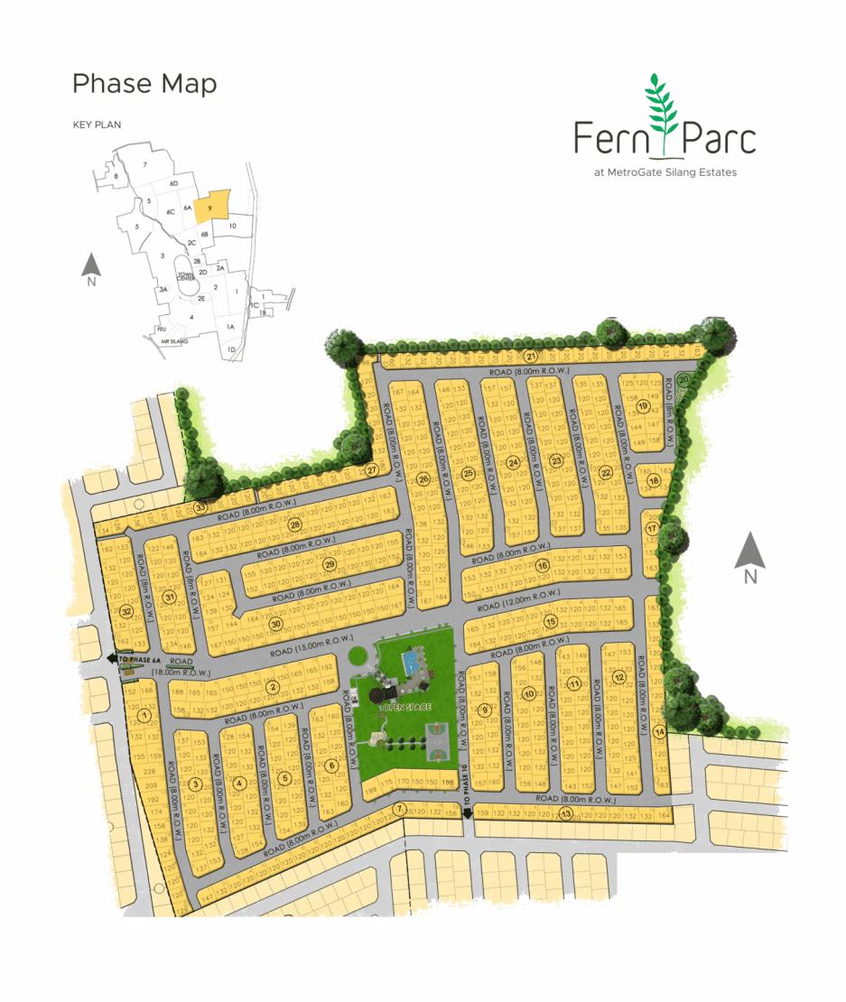 Site Development Plan for Fern Parc at MetroGate Silang Estates