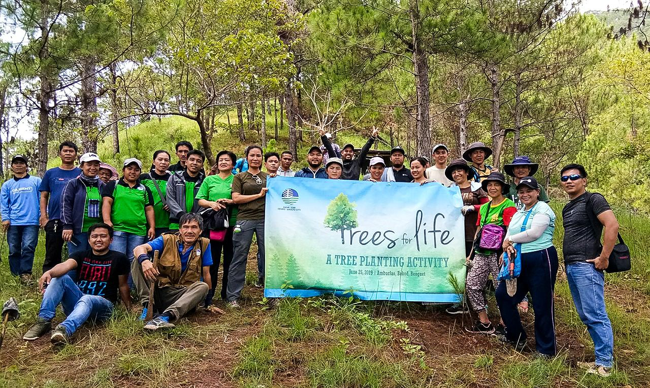 Moldex Realty joins Arbor Day with the DENR–CENRO in Bokod, Benguet