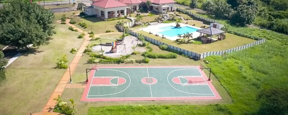 Aerial View of Clubhouse and Basketball Court