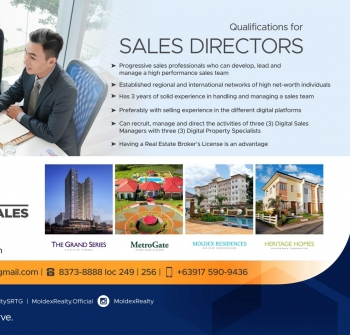 We're looking for new Sales Directors