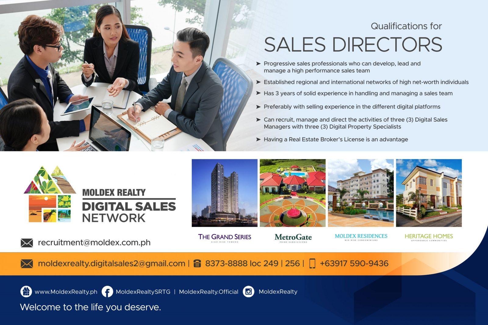We're looking for new Sales Directors
