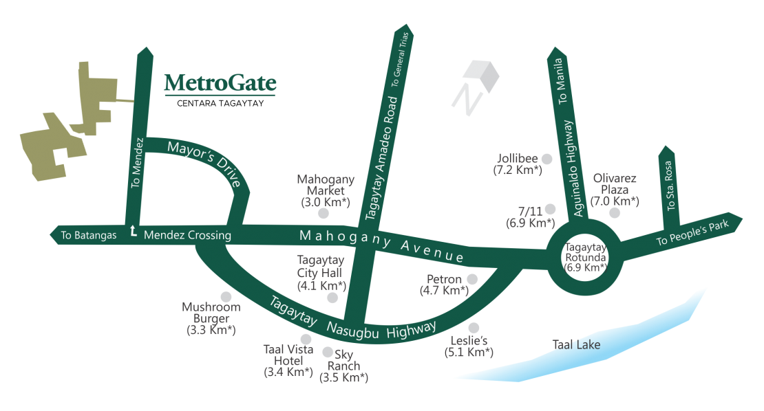 Vicinity Map MetroGate Centara Tagaytay