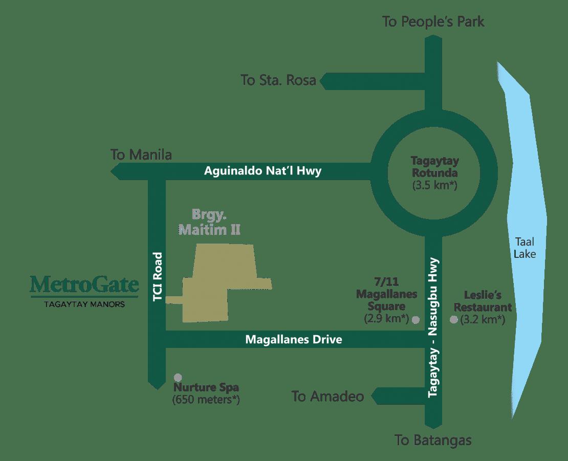 Vicinity Map MetroGate Tagaytay Manors