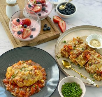 Tasty Treat for Dad Recipe List: Strawberry Panna Cotta and Chicken and Eggplant Parmigiana