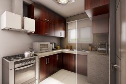 Architect's Perspective of Kitchen Area (House Model Chloe)